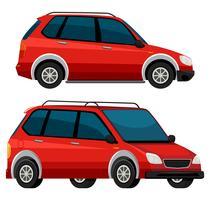 Côté de la voiture rouge