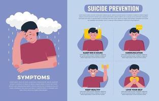 infographie sur la prévention du suicide vecteur