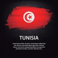 brosse drapeau tunisie vecteur