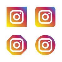 ensemble d'icônes de logo de médias sociaux instagram avec différentes formes de style vecteur