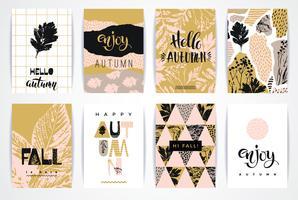 Jeu de cartes automne créatif artistique.