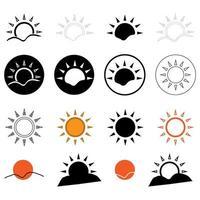 collection d'icônes de soleils vecteur