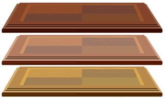 Trois planches en bois vecteur