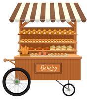 Etal de boulangerie isolé en bois vecteur