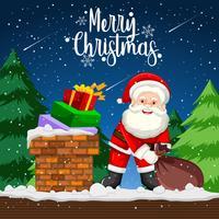 Cadeau de livraison du père Noël la nuit
