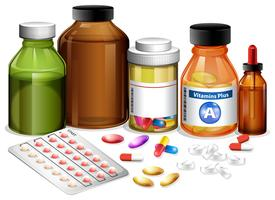 Ensemble de médicaments divers