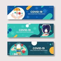 covid-19 après la bannière du vaccin vecteur