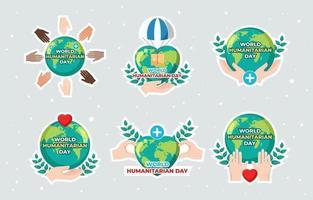 concept de la journée humanitaire mondiale vecteur