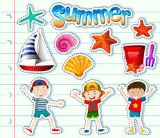Ensemble d'autocollants pour enfants et articles d'été