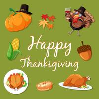 Modèle d'élément de joyeux thanksgiving