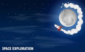 Concept de scène d'exploration spatiale vecteur
