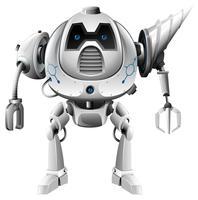 Robot moderne avec épaulement de perceuse vecteur
