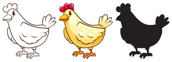 poulet vecteur