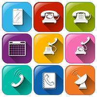 Différentes icônes pour la communication