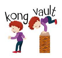 Wordcards pour kong et vault vecteur