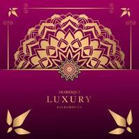conception de mandala de luxe vecteur