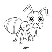 enfants à colorier sur le thème du vecteur animal, fourmi