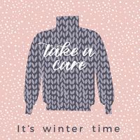 Illustration d'hiver. Conception de vecteur pour carte, affiche, flyer, web