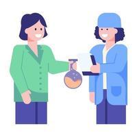 rapport chimique de laboratoire vecteur
