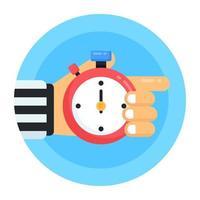 chronomètre et compteur de temps vecteur