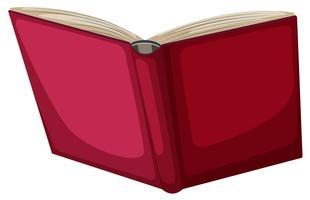 Objet de livre rouge sur fond blanc vecteur