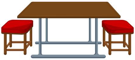 Table et chaises de cantine vecteur
