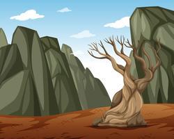Un paysage de montagne sec vecteur