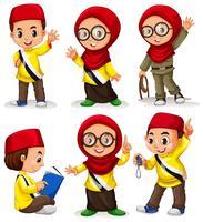 Enfants de Brunei en costumes vecteur