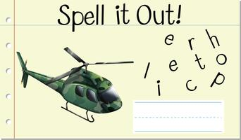Épeler en hélicoptère vecteur