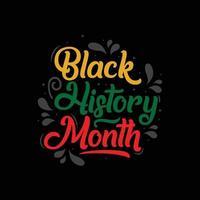 modèle de conception des célébrations du mois de l'histoire des noirs. vecteur