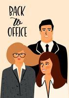 Illustration vectorielle avec des employés de bureau. vecteur