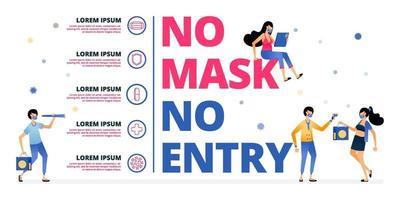 avertissement et appel au public à continuer de porter des masques pendant la pandémie vecteur