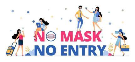 panneau d'avertissement obligatoire pour porter un masque en vacances ou en voyage vecteur