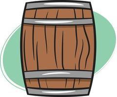 un vieux tonneau ou tonneau en bois vecteur