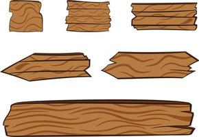 panneaux de bois pour les titres vecteur
