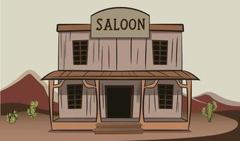 saloon à l'ancienne où les cowboys boivent vecteur