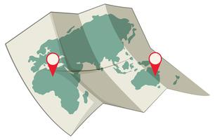 Carte du concept de destination mondiale vecteur