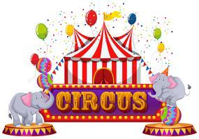 Un cirque amusant et un animal heureux vecteur