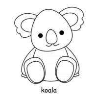 enfants à colorier sur le thème du vecteur animal, koala