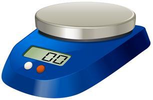 Balance de mesure de laboratoire avec plaque métallique vecteur