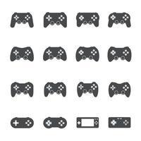 icônes de manette de jeu. illustration vectorielle vecteur