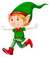 Joyeux Noël elfe en cours d'exécution