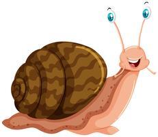 Escargot au visage heureux vecteur