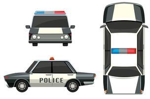 Voiture de police de différents points de vue vecteur