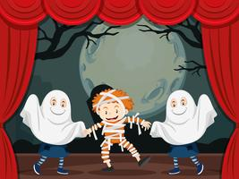 Fantômes et maman sur scène
