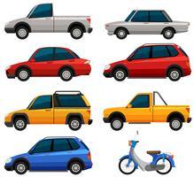 Différents types de transports vecteur