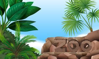 Signe du zoo sur la montagne vecteur