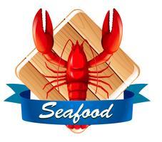 Homard sur l'icône de fruits de mer vecteur