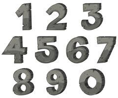 Lettre en bloc pour les chiffres vecteur
