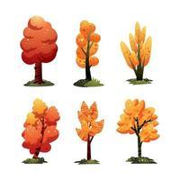 concept d'icône arbre automne vecteur